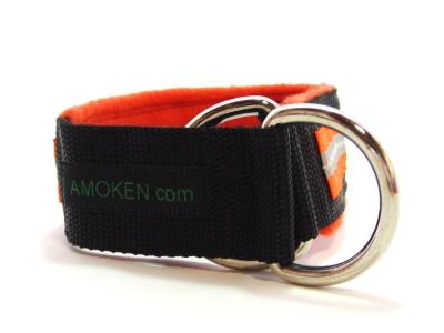 リング|犬の首輪(ハーフチョークカラー)|AMOKEN リフレクティブフリースハーフチョーク
