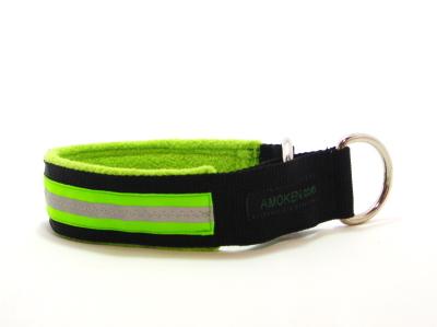 ライム|犬の首輪(ハーフチョークカラー)|AMOKEN リフレクティブフリースハーフチョーク
