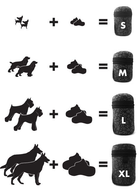 サイズガイド2|ディッキーバッグ 犬用使用済マナー袋・ウンチ袋ポーチ |お散歩便利犬グッズ通販 HAU