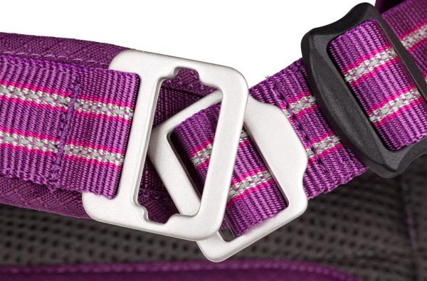 簡単に着けられる引っかけアルミニウムバックル|ドッグコペンハーゲン コンフォートウォークエアハーネス|犬グッズ通販HAU