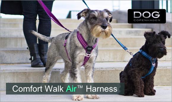 お散歩におすすめ やわらかい、軽いで快適なデンマーク犬用胴輪|ドッグコペンハーゲン コンフォートウォークエアハーネス|HAU
