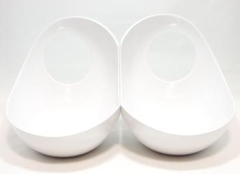 Twins フードボウル ホワイト&ホワイト
