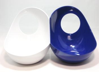 Twins フードボウル ブルー&ホワイト