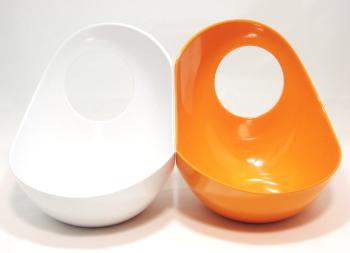 Twins フードボウル オレンジ&ホワイト