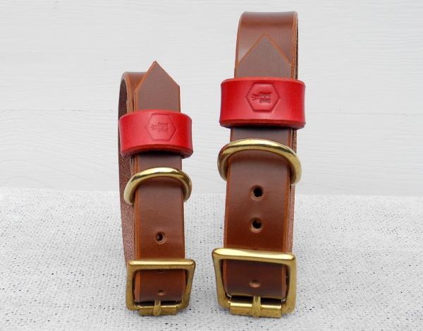 小型犬、中型犬、大型犬におすすめの革製首輪|モノグラムレザードッグカラー|犬グッズ通販HAU