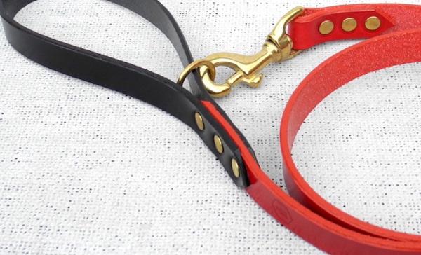 シンプルな革製リード、デザイン性も高いこだわり派のドッグオーナーにおすすめ 革製犬用リーシュ 犬グッズ通販HAU