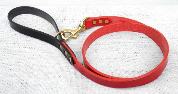 オックスブラッドレッド(ブラックハンドル) HOUNDWORTHY モノグラムブライダルレザードッグリード(犬用革製首輪) 犬グッズ通販HAU
