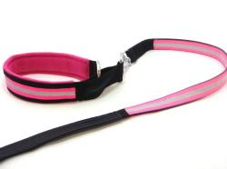 犬の首輪、リード|AMOKEN リフレクティブハーフチョーク&リードセット|犬グッズ通販HAU(ハウ)
