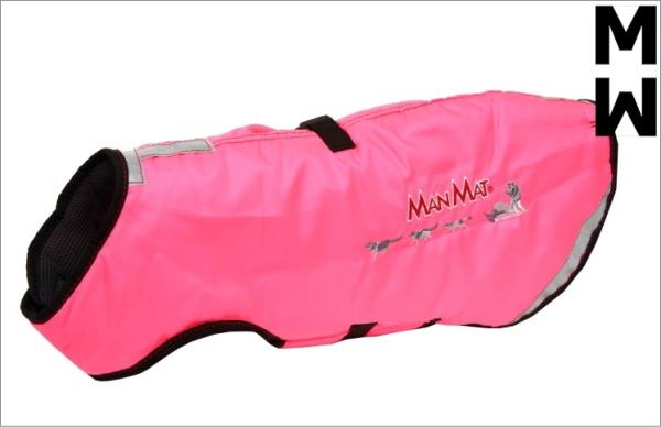 冬用犬の服/防寒用ドッグコート|MANMAT サーモコート ピンク 寒さ対策におすすめ|犬用品通販HAU
