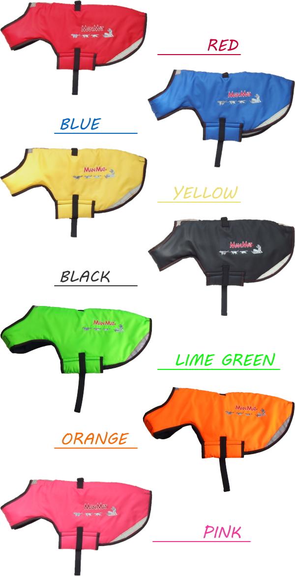 冬用犬の服/防寒用ドッグウェア|MANMAT サーモコート ブラック、レッド、ブラック、ブルー、ブラウン|犬グッズ通販HAU