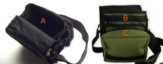 3つの便利な収納スペース|FIREDOG ドキュメントショルダーバッグ(愛犬とのお出かけ用オーナーバッグ)