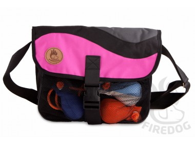 ブラック/ピンク|FIREDOG ダミーバッグ Profi(愛犬とのお出かけ/お散歩用ショルダーバッグ)