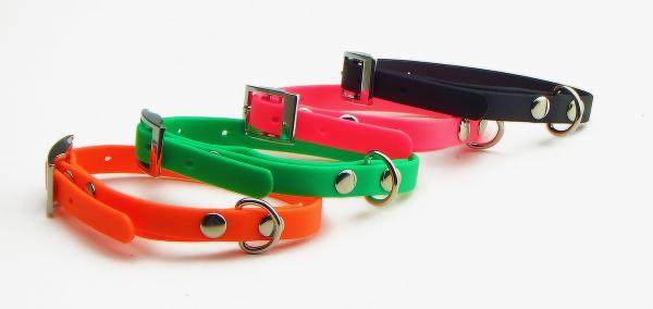 ピンク、オレンジ、ライトグリーン、ブラック|防水犬用首輪|FIREDOG BioThaneドッグカラー(小型犬~大型犬用)|犬グッズ通販HAU