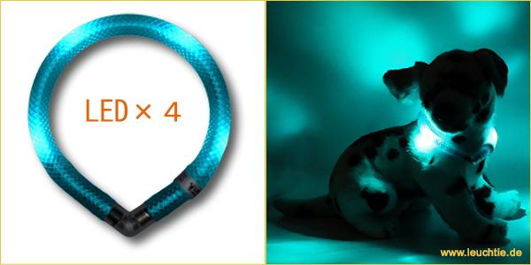 おすすめの新モデル|犬の交通安全ライト、光る首輪|LEDドッグカラー LEUCHTIE mini(小型犬用セーフティーライト)|犬グッズ通販HAU