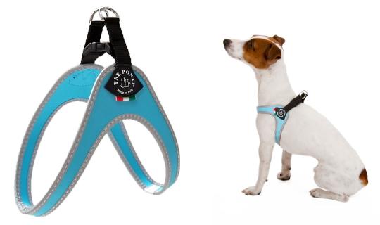 脚を上げずに簡単に着脱できる小型犬用ハーネス|Fibbia Tre Ponti|犬グッズ通販HAU
