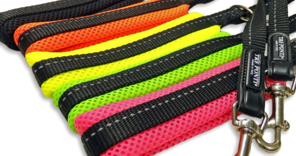 ブラック、オレンジ、イエロー、グリーン、ピンク|ソフトメッシュリーシュ  トレ・ポンティ Tre Ponti|犬グッズ通販HAU