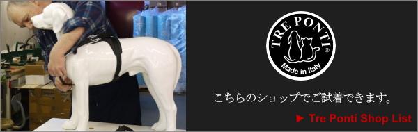 Tre Ponti (トレポンティハーネス正規取扱店リスト)|犬グッズ通販HAU